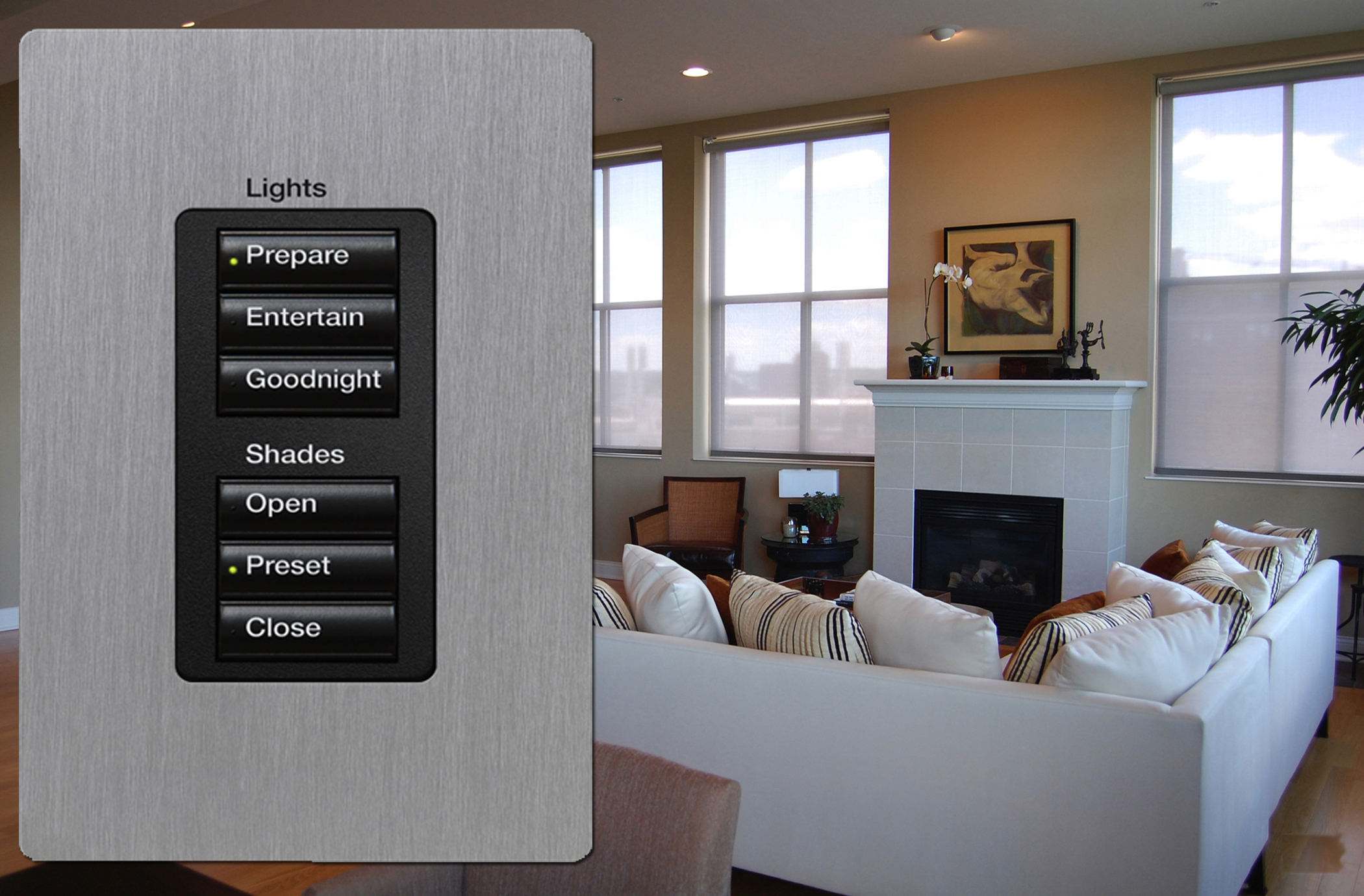 use product domestic lighting indoor interior control prod for light home system crestron automation systems
